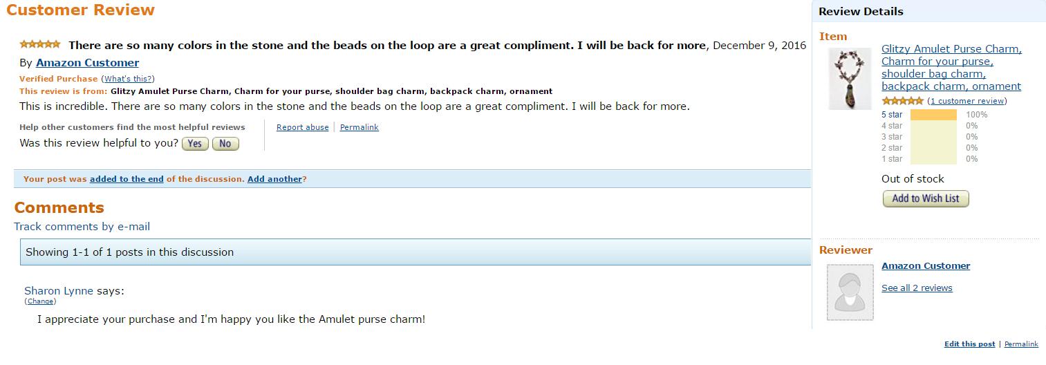 Glitzy Shopper Customer Review