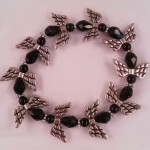 Angel bracelet (black) $8.00