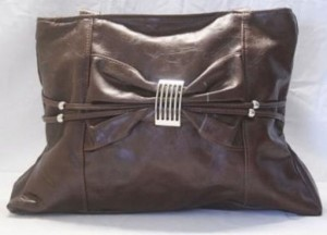 Brown bow jazzy purse