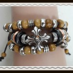 Celtic cross leather bracelet $5.00