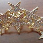 Gold star double ring