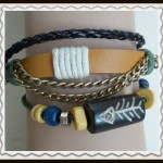 Leather chain bracelet $5.00