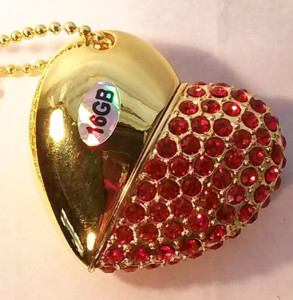 Gold with red rhinestones $20.00