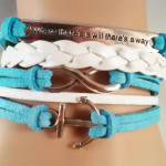 Blue & White Where theres a will, theres a way bracelet $8.00