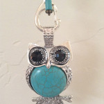 Turquoise owl rear view mirror hanger $17.00 + Shipping