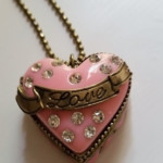 Betsey's Dollhouse Long Pendant Heart Necklace