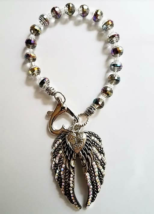 Angel Wings Purse Charm